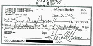 billion dollar check