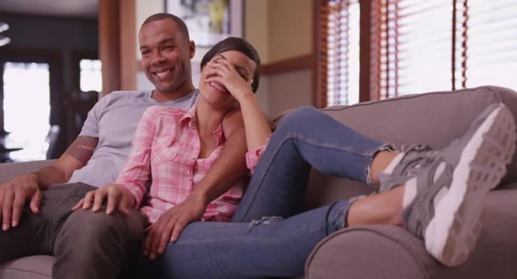 Black Couple Watching Netflix